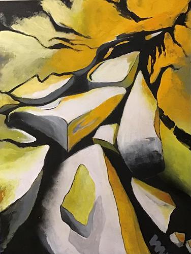 miro sedlar, Flowing rocks, Abstraktes, Abstrakte Kunst, Expressionismus