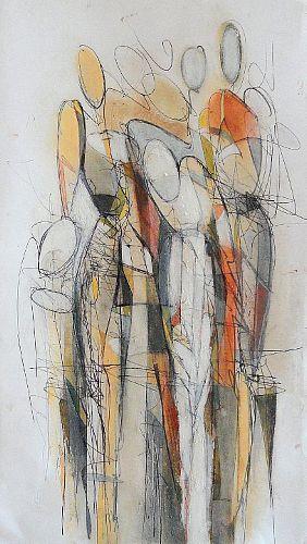 Angela Fusenig, Komposition figürlich, Menschen: Gruppe, Diverse Menschen