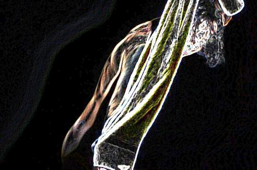 Ferdinand Burger, Bearable Lightness of Being - StarMe 1, Akt/Erotik: Akt Mann, Menschen: Mann, Fotorealismus