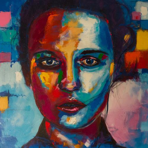Alex, Swede I, Menschen: Frau, Menschen: Gesichter, Abstrakter Expressionismus
