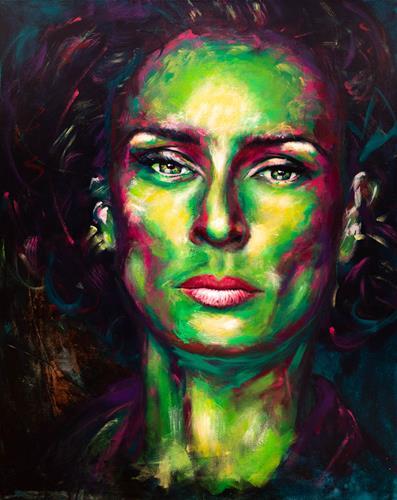 Alex, Safiya, Menschen: Frau, Menschen: Gesichter, Abstrakte Kunst, Abstrakter Expressionismus