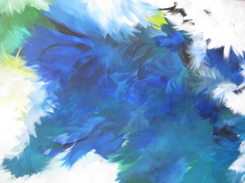 bärbel ricklefs-bahr, azul, Abstraktes, Abstrakte Kunst