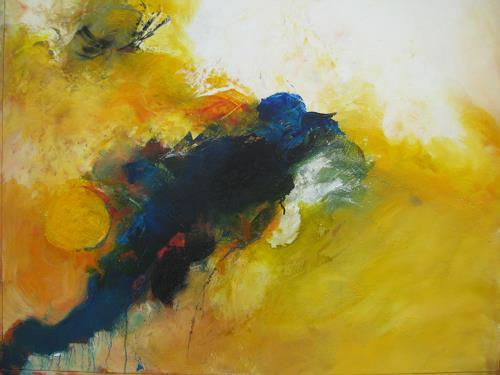 bärbel ricklefs-bahr, blue moon, Abstraktes, Abstrakte Kunst