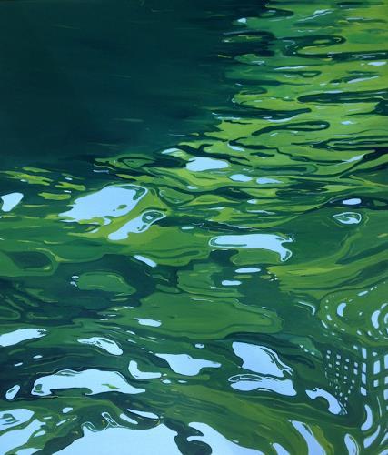 Regina Köppen, Wasser 1, Landschaft, Natur, Gegenwartskunst, Expressionismus