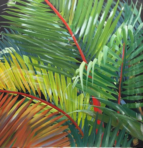 Regina Köppen, Rotstielpalme, Pflanzen, Pflanzen: Palmen, Gegenwartskunst