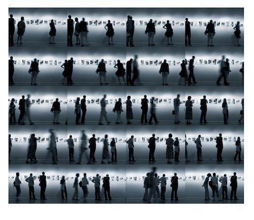 Klaus Rademaker, ohne Titel III, Bewegung, Menschen: Gruppe, Gegenwartskunst, Abstrakter Expressionismus