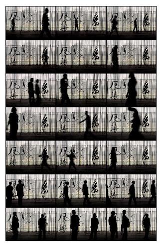 Klaus Rademaker, ohne Titel IV, Menschen: Gruppe, Gegenwartskunst