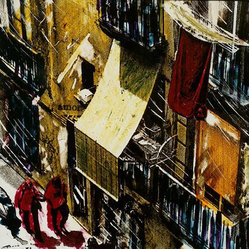Carola Schmitt, Barcelona Urbane Impressionen, Bauten: Haus, Menschen: Paare, Pop-Art, Abstrakter Expressionismus