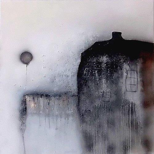 Cornelia Hauch, Altes Haus am See, Abstraktes, Abstrakte Kunst, Expressionismus
