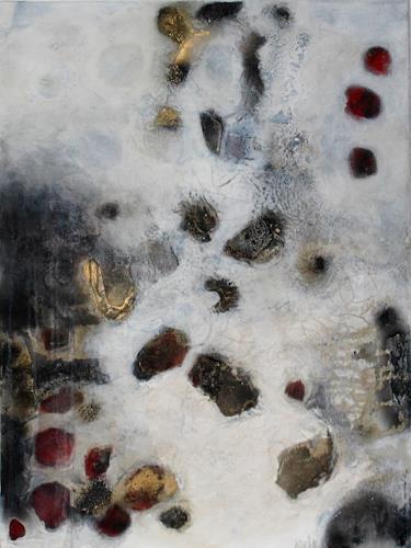 Cornelia Hauch, Flussgeschichten I, Abstraktes, Natur: Wasser, Abstrakter Expressionismus