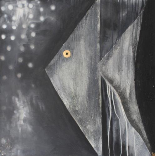 Cornelia Hauch, Nachts unter Wasser, Abstraktes, Tiere: Wasser, Abstrakter Expressionismus