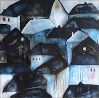 Cornelia-Hauch-Abstraktes-Bauten-Haus-Moderne-Abstrakte-Kunst