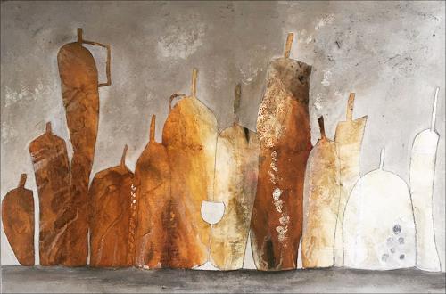 Cornelia Hauch, Gemütlichkeit, Stilleben, Wohnen: Zimmer, Abstrakter Expressionismus
