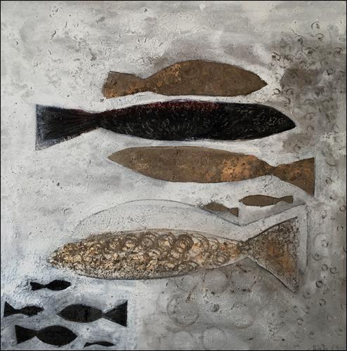 Cornelia Hauch, Stille, Tiere: Wasser, Abstraktes, Expressionismus