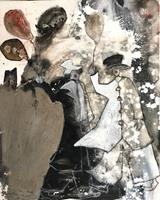 Cornelia-Hauch-Abstraktes-Zirkus-Clown-Moderne-Abstrakte-Kunst