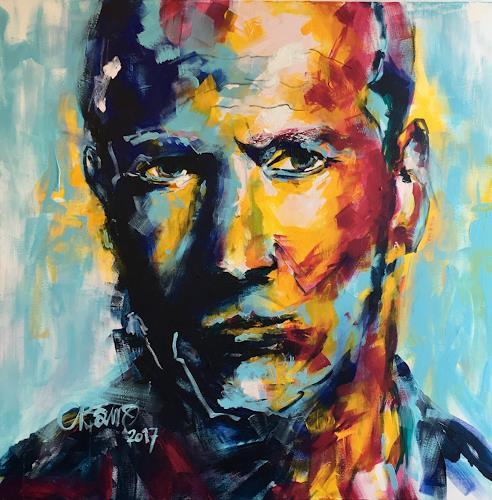 Cécile Banz, Jason, Menschen: Porträt, Menschen, expressiver Realismus, Abstrakter Expressionismus