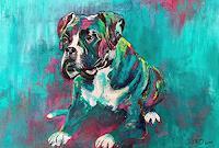 Cecile-Banz-Tiere-Land-Fantasie-Moderne-Abstrakte-Kunst-Colour-Field-Painting