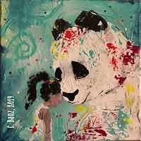 Cecile-Banz-Tiere-Land-Menschen-Frau-Moderne-Abstrakte-Kunst-Colour-Field-Painting
