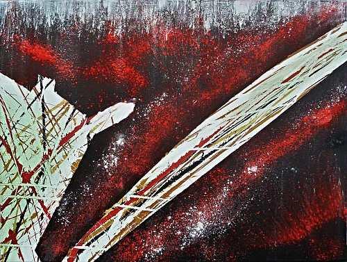 Nikolaus Becker, Das Universum und der Künstler, Abstraktes, Fantasie, Abstrakter Expressionismus, Expressionismus, Moderne