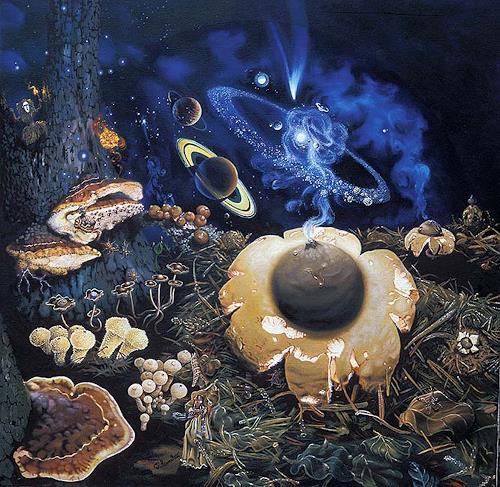 Roland Spohn, Der Erdstern, Weltraum: Gestirne, Diverse Pflanzen, Postsurrealismus, Abstrakter Expressionismus