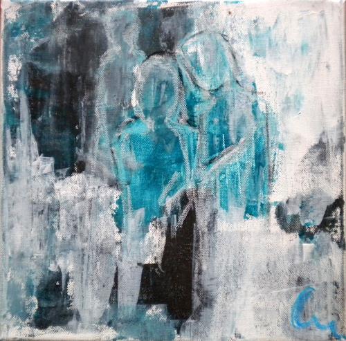 Claudia Neusch, o. Titel, Abstraktes, Diverse Menschen, Gegenwartskunst