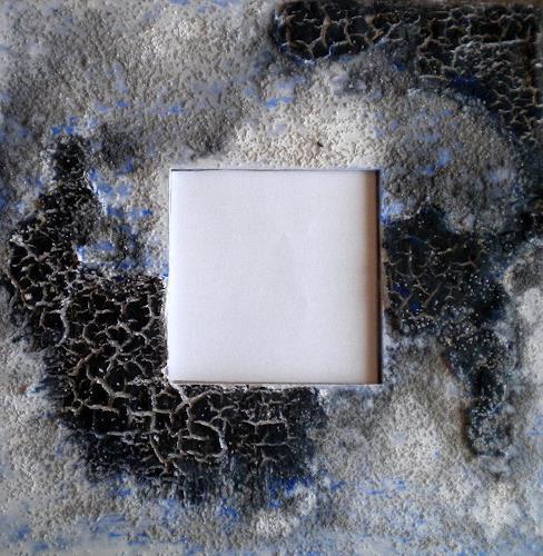 Claudia Neusch, Zersprungen I, Abstraktes, Dekoratives, Abstrakte Kunst