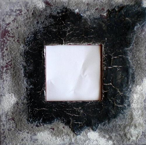 Claudia Neusch, Zersprungen II, Abstraktes, Dekoratives, Abstrakte Kunst