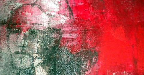 Claudia Neusch, Einladungskarte, Menschen: Frau, Abstraktes, Neue Figurative Malerei, Abstrakter Expressionismus