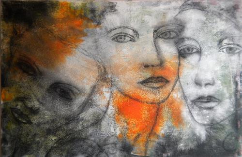 Claudia Neusch, The Three Graces, Menschen: Gesichter, Abstraktes, Moderne