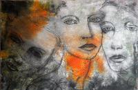 Claudia-Neusch-Menschen-Gesichter-Abstraktes-Moderne-Moderne