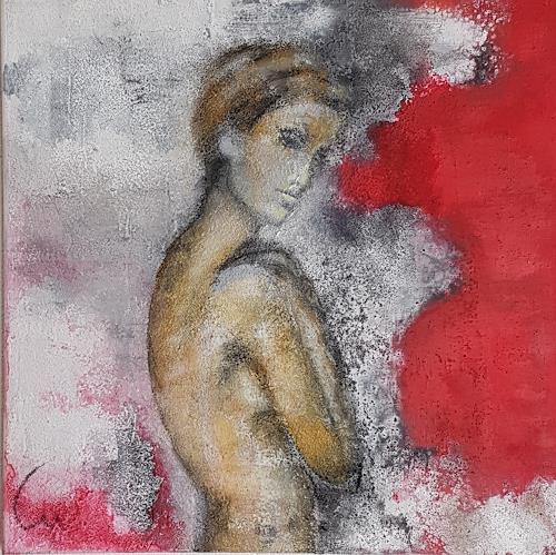 Claudia Neusch, O/T, Menschen: Frau, Abstraktes, Neue Figurative Malerei