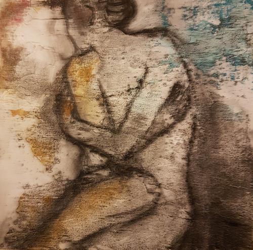 Claudia Neusch, O/T, Menschen: Frau, Akt/Erotik, Abstrakte Kunst