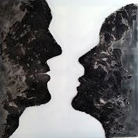 Claudia-Neusch-Menschen-Paare-Abstraktes-Moderne-Abstrakte-Kunst