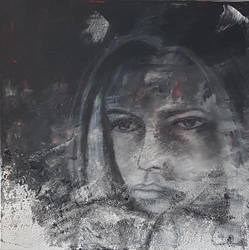 Claudia Neusch, O/T, Menschen: Frau, Menschen: Gesichter, Abstrakte Kunst