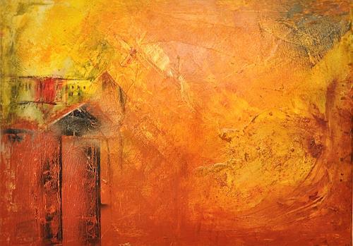 Justyna Gadek, Lucky village, Abstraktes, Diverse Bauten, Gegenwartskunst, Expressionismus