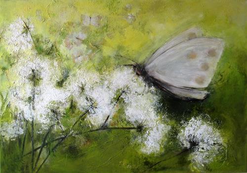 Rose Lamparter, Schmetterling, Abstraktes, Pflanzen: Blumen, Abstrakte Kunst