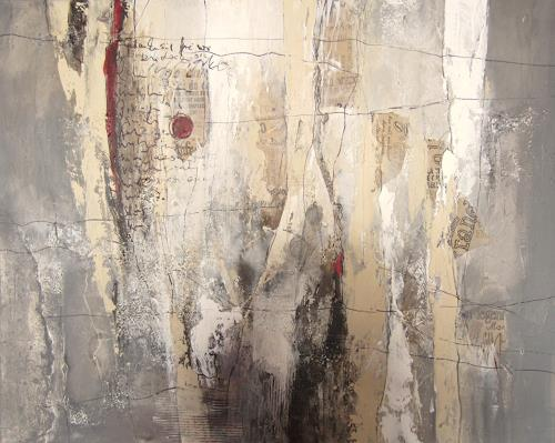 Rose Lamparter, roter Punkt, Abstraktes, Gegenwartskunst, Abstrakter Expressionismus