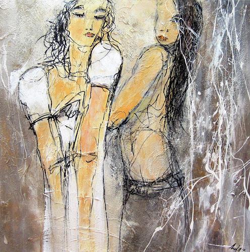 Rose Lamparter, Friends, Abstraktes, Abstrakte Kunst, Expressionismus