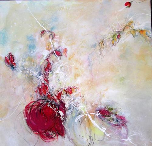 Rose Lamparter, Granatapfel, Abstraktes, Abstraktes, Gegenwartskunst, Expressionismus