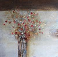 Rose-Lamparter-Pflanzen-Blumen-Gegenwartskunst-Gegenwartskunst