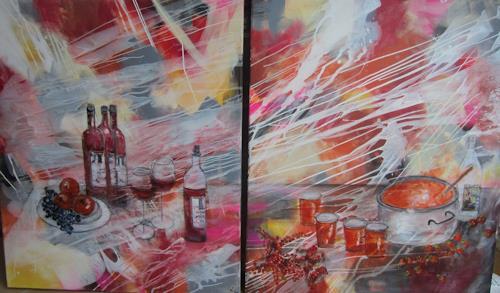 Rose Lamparter, Küche 2 Tlg, Abstraktes, Abstrakte Kunst