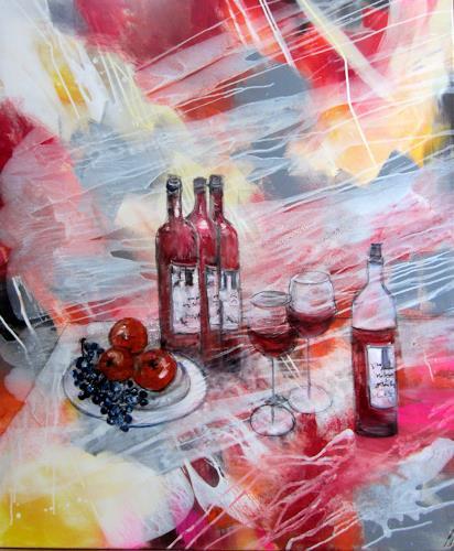 Gut Rose Lamparter, Küche 1, Abstraktes, Abstrakte Kunst