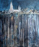 Rose-Lamparter-Landschaft-Moderne-Abstrakte-Kunst