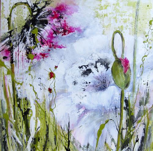 Rose Lamparter, Frühling, Pflanzen, Abstrakte Kunst, Expressionismus