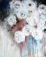 Rose Lamparter, weiße Rosen