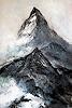 Rose Lamparter, Matterhorn, Landschaft, Abstrakte Kunst