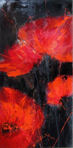 Rose Lamparter, Mohn glänzend, Pflanzen, Abstrakte Kunst
