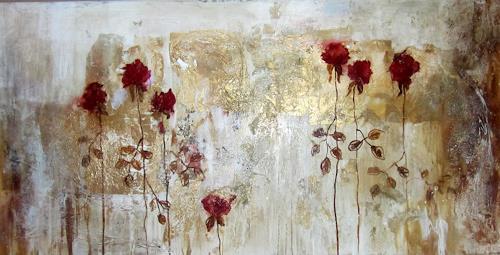 Rose Lamparter, Rosen, Abstraktes, Abstrakte Kunst, Expressionismus