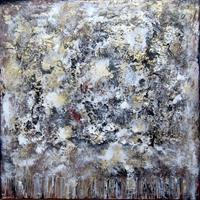 Rose Lamparter, weiß/grqu/gold
