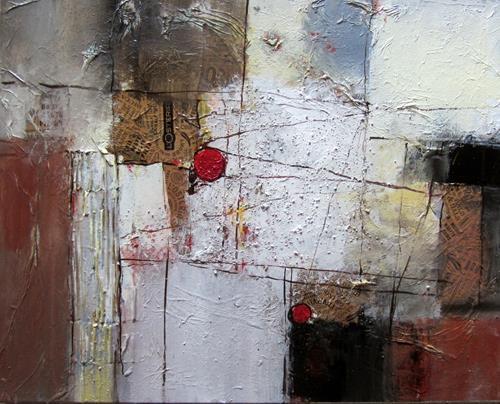Rose Lamparter, roter Punkt 4, Abstraktes, Abstrakte Kunst